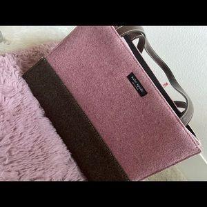 ♠️♠️Kate Spade Pink & Brown Suede Shoulder Bag♠️♠️